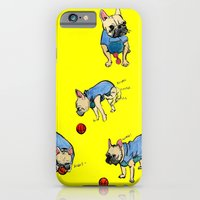 French Bulldog Playing W… iPhone 6 Slim Case