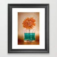 TURQUOISE & ORANGE Framed Art Print