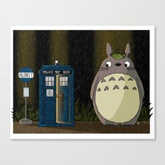 Allons-y Totoro alternate Canvas Print