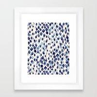 Indigo Rain Framed Art Print