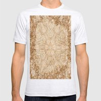 Petrified Wood Kaleidoscope Mens Fitted Tee Ash Grey SMALL