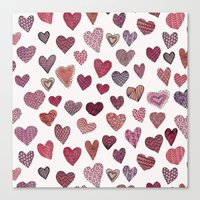 Artsy Hearts Canvas Print