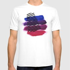 Magenta Broadcast SMALL White Mens Fitted Tee