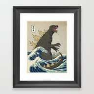 The Great Godzilla Off K… Framed Art Print