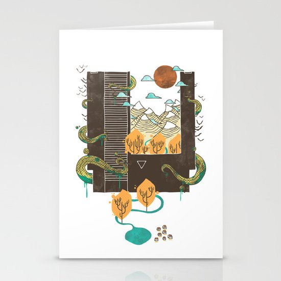 A World Within Stationery Card