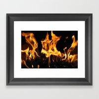 Fires Of Hell Framed Art Print