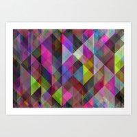 Winter Geometric 2 Art Print