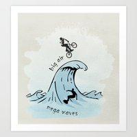 big air, mega waves Art Print