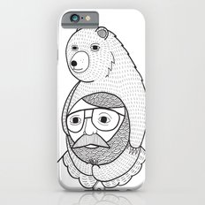 On how baby bears are often used as winter hats iPhone 6 Slim Case