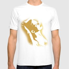 sexy Mens Fitted Tee SMALL White