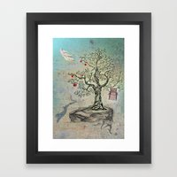 Fruits of Heaven - the Beauty of an Empty Birdcage Framed Art Print