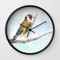 European Goldfinch On Tr… Wall Clock