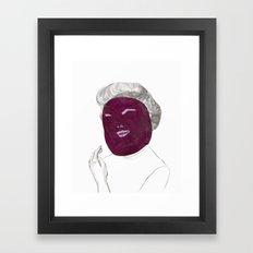 60's actress Framed Art Print