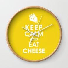 Keep Calm and Eat Cheese Wall Clock