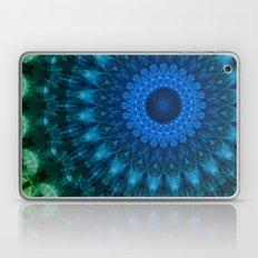 Detailed mandala in light and dark blue tones Laptop & iPad Skin