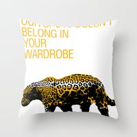 Leopard Spots Throw Pillow