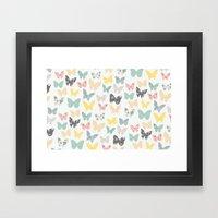 butterflies pattern Framed Art Print