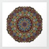 Hallucination Mandala 2 Art Print