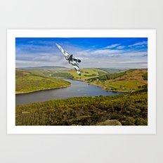Vulcan over Ladybower Art Print