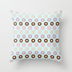 Doughnut Polka Throw Pillow