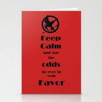 Keep Calm And May The Odds Stationery Cards