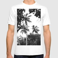 Tall trees SMALL Mens Fitted Tee White