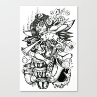 Music is Beauty Crumbling - ANALOG zine Canvas Print