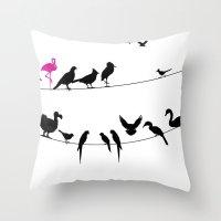 Best Bird Buddies Throw Pillow