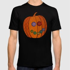 Patterned pumpkin  Black Mens Fitted Tee SMALL