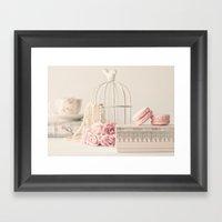 Girly Macarons still life Framed Art Print