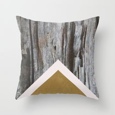 Wooded Chevron Throw Pillow
