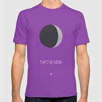 That's No Moon Mens Fitted Tee Ultraviolet SMALL