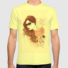 Fall Mens Fitted Tee Lemon SMALL