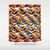 Vibrant Geometric Motif Shower Curtain