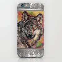 iPhone & iPod Case featuring Portrait of a Gray Wolf by JMcCombie
