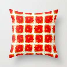 Watermelon cubism Throw Pillow