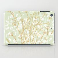 Coockie brown clover on green  iPad Case