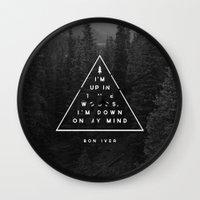 Woods -- Bon Iver Wall Clock
