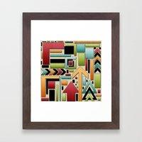 Retro Junk. Framed Art Print