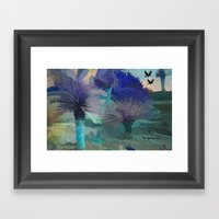 TheDesert Blue -By Sherr… Framed Art Print