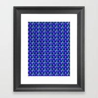 Woven Pixels II Framed Art Print