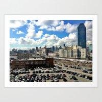 Long Island City x Manhattan Art Print