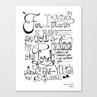 Jeremiah 29:11 Canvas Print