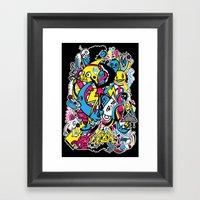 4 Seasons Doodle Framed Art Print