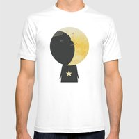 The day I kissed the Moon Mens Fitted Tee White SMALL