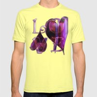 Two Hearts Mens Fitted Tee Lemon SMALL