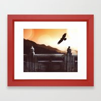 Dark Wings, Dark Words Framed Art Print