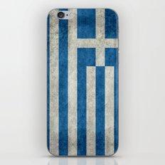 Flag Of Greece - Vintage… iPhone & iPod Skin