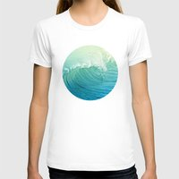 Catch The Wave Womens Fitted Tee White SMALL
