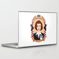 lady gaga Laptop & iPad Skins featuring Dana Scully by heymonster